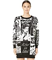 Boutique Moschino - Newspaper Print Sweater Dress
