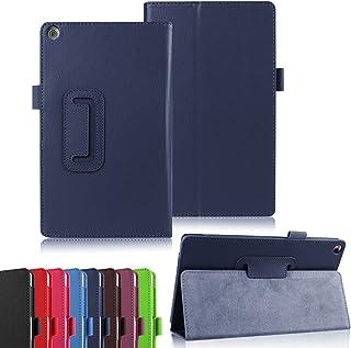 Asng ASUS زينباد 8.0 Z380M Case - Slim مطوي واقف غطاء ذكي ل 2015 ASUS زينباد Z380M / Z380C / Z380KL 8.0 Tablet (مع ميزة ال...
