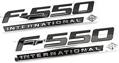 Truck Emblem Warehouse 2 New (Pair) Set Custom Chrome F550 Powerstroke International Fender Badges