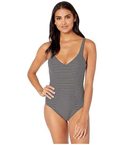 Seafolly Go Overboard DD V-Neck Maillot One-Piece Swimsuit (Black) Women