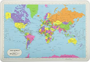 Painless Learning Map Placemat, multicoloured, World