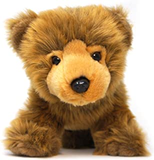 VIAHART Borya The Baby Brown Grizzly Bear | 9 Inch Realistic Looking Stuffed Animal Plush | by Tiger Tale Toys
