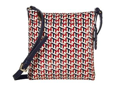 Tommy Hilfiger Julia North/South Crossbody (Navy/Multi 1) Cross Body Handbags