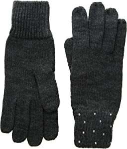 Rhinestone Rib Gloves