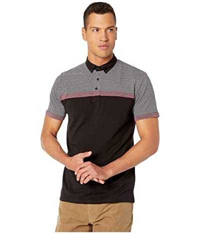 Ben Sherman Engineered Jacquard Polo (Black) Men
