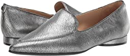 Pewter Metallic Tumble Leather