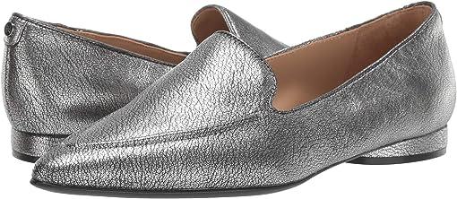 Pewter Metallic Tumble Leather