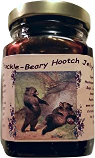 Montana Huckleberry Infused Wine Jelly - 9 oz Jars - Alcohol Free Hooch - Great for a Western Breakfast - Make your own Pop Tarts - For your Holiday Table or Give as a Gift (HHWJ 9)