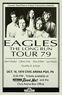 The Eagles Long Run Tour 1979 Retro Art Print — Poster Size — Print of Retro Concert Poster — Features Don Felder, Glenn Frey, Don Henley, Timothy B. Schmit, and Joe Walsh .