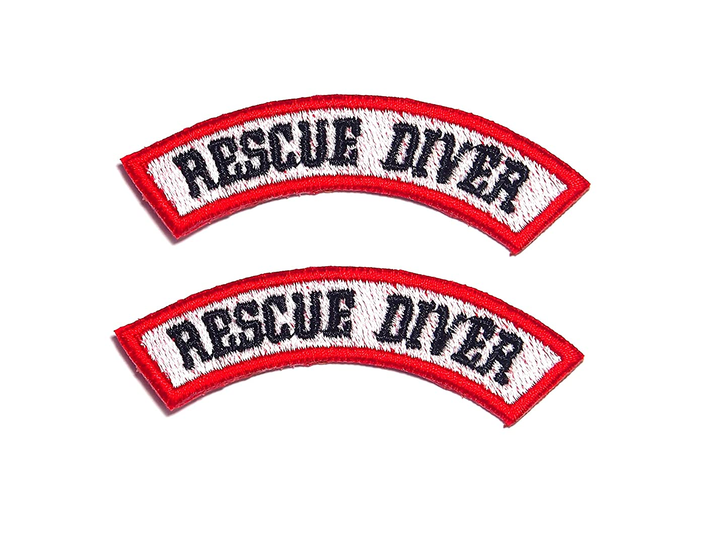 AstroG@ BP21 2 X Rescue Diver Scuba Diving EMT EMS Embroidered Morale Patch 7.5 X 1.5 cm for Sew-On Only
