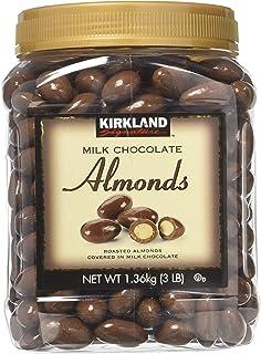 Kirkland Signature Milk Chocolate Almonds 2 Pack JAR, Set of 2