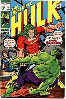 INCREDIBLE HULK #141 comic book FIRST DOC SAMSON BRONZE AGE MARVEL