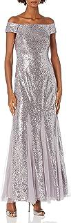 فستان نسائي طويل مزين بالترتر من Adrianna Papell