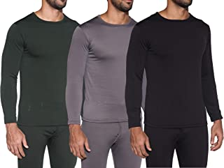 1 & 3 Pack: Men's Ultra-Soft Long Sleeve Crew Neck Thermal Shirt – Fleece Lined Compression Baselayer Top Underwear