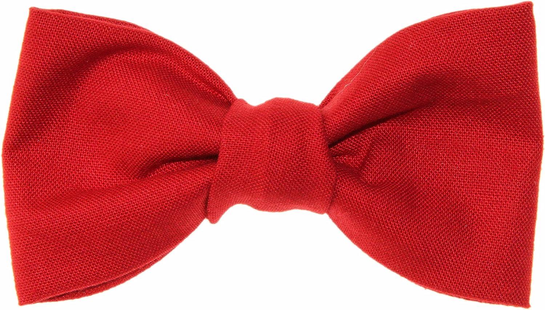 Toddler Boy 4T 5T Rich Red Clip On Cotton Bow Tie Bowtie