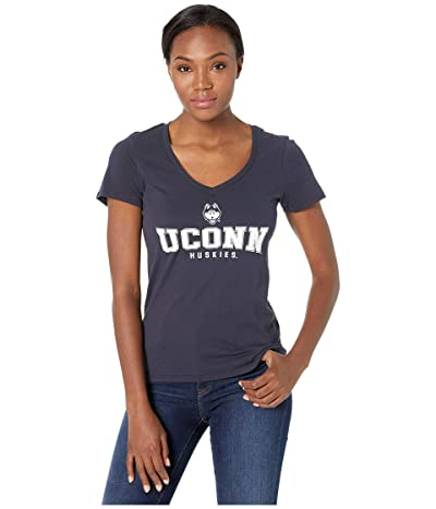 Champion College UConn Huskies University V-Neck Tee (Navy 1) Women