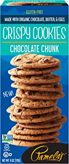 Pamela's Products Crispy Gluten Free Cookies, Chocolate Chunk, 6 Ounce Box, 6 Count