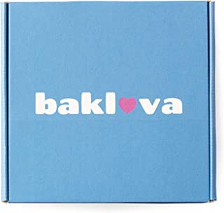 Bakluva 8-Piece Baklava Pastry Desert Gift Box - (8) Large 2.3 oz (66 gram) Pieces - Perfect for Gifts, Parties, and More