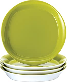 Rachael Ray Dinnerware Round and Square 4-Piece Stoneware Salad Plate Set, Green