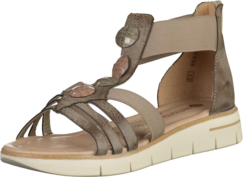 Remonte Women Sandals grey, (cigar kiesel) D3953-25