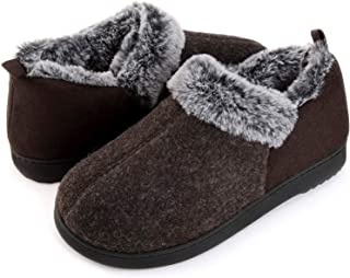 ULTRAIDEAS Women's Cozy Memory Foam Slippers with Warm Plush Faux Fur Lining, Wool-Like Blend Micro Suede House Shoes with...