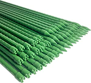 WAENLIR Garden Stakes 72 inch 6ft Sturdy Plant Sticks/Support, Tomato Stakes, Pack of 50