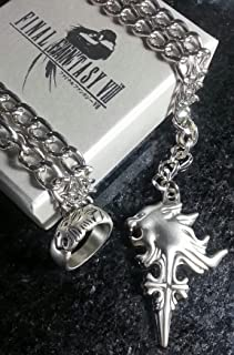 Final Fantasy VIII Squall Griever Necklace & Ring | FF8 Cosplay Dissidia Cloud Serah Lightning Anime