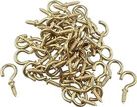 HALJIA 50 stuks mini-ring haken schroef eye bout voor spiegel frame oogschroeven ringschroeven oogschroeven oogschroeven