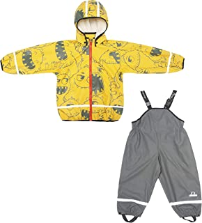 Boys & Girls Kids Raincoat Jacket with Pants Waterproof Reflective Children Rainwear Set (203700)