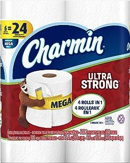 Charmin Ultra Strong Toilet Paper 6 Mega Rolls = 24 Regular Rolls