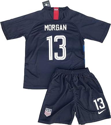Morgan #13 USA National Alex 2018-2019 Womens Away Football Soccer T-Shirt Jersey