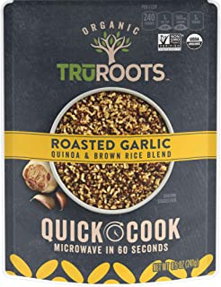 truRoots Quick Cook, Quinoa and Brown Rice Blend, Roasted Garlic, 8 Count, 8.5 Ounce