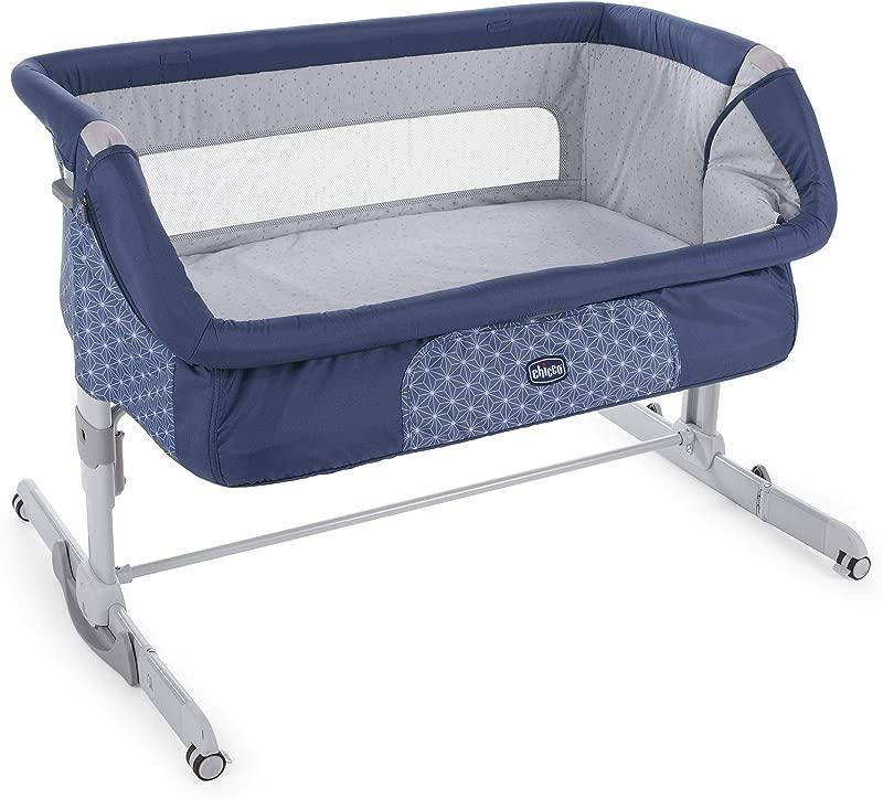 Chicco 2019 Side Sleeping Crib Next2Me Dream Navy Baby Side Sleeping Crib Swing Function Brand New