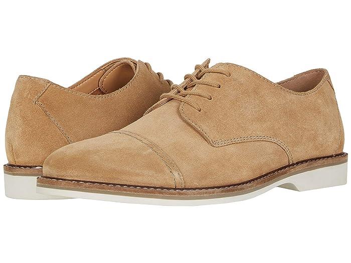 Clarks  Atticus Cap (Dark Sand Suede) Mens Shoes