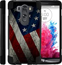 TurtleArmor | Compatible with LG V10 Case | LG G4 Pro Case [Dynamic Shell] Hybrid Dual Layer Hard Shell Cover Kickstand Silicone Case - American Flag