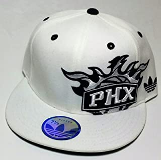 cheap for discount a1565 37dc2 Phoenix Suns Adidas New Shadow White   Black Mitchell Fitted Era Ness Hat  Cap 7 1