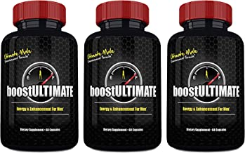 boostULTIMATE Testosterone Booster Pills, Low T Supplement with Tongkat Ali, Maca, L-Arginine & Ginseng for Natural Male Enhancement - Increase Your Muscle Size, Energy & Stamina (180 Capsules)
