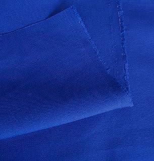 Baumwollstoff Segeltuch mittelschwer - Polsterstoff/Möbelstoff als Meterware am Stück Royal-Blau