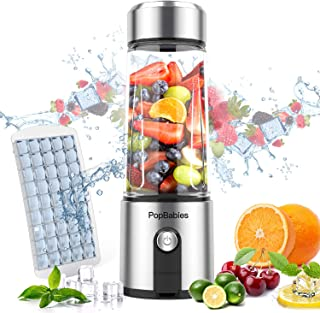 Portable Blender,PopBabies Personal Blender Smoothie Blender on the go with USB Rechargeable, 5200 maH Powerful Longer Life Smoothie Blender,Tritan Juicer Cup (FDA, BPA free)