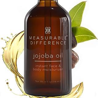 Measurable Difference Jojoba Oil - Hydrating Face Oil for All Skin Types - Brightening Moisturizing Jojoba Oil for Face an...