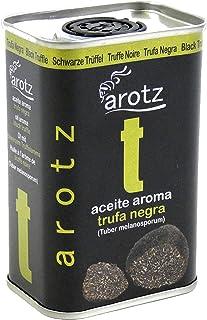 Aceite aroma de trufa negra. Lata de aceite trufado de 200ml. Acompaña cualquier plato y otórgale ese toque exclusivo de alto nivel culinario. Aceite con un aroma a trufa negra. Tuber melanosporum