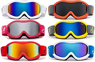 Cloud 9 - Kids Boys & Girls Professional SKi Goggles Anti-Fog UV400 Protection Wind Proof Dual Lens Triple Face Foam Winter Snow Goggles for Girls & Boys (1 Pair ONLY, Choose Your Color)