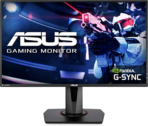 """Asus VG278QR 27"""" Gaming Monitor, 1080P Full HD, 165Hz (Supports 144Hz), G-SYNC Compatible, 0.5ms, Extreme Low Motion ..."""
