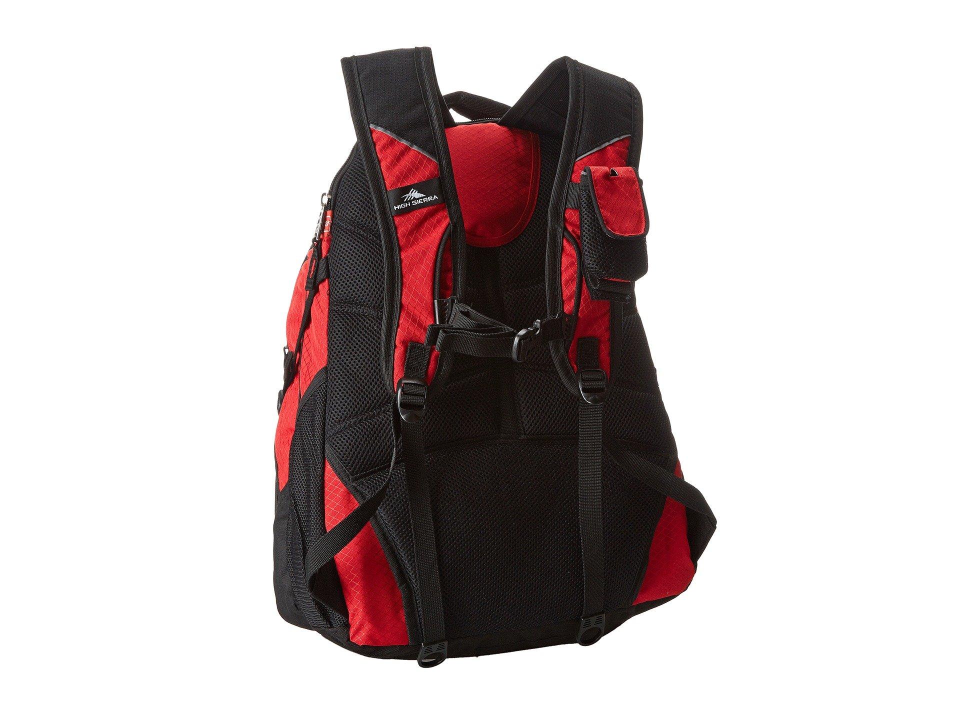 Backpack High Sierra Access Crimson black TEH1wU