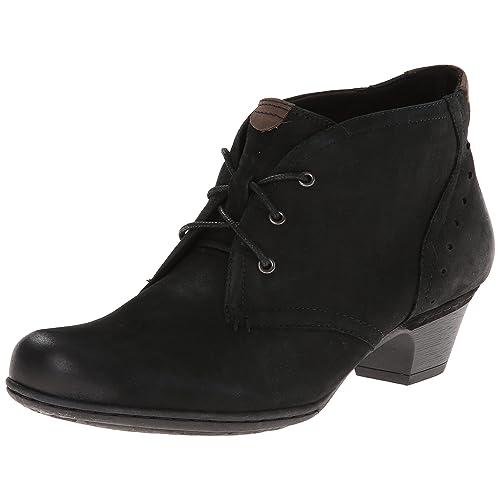 b62cd1292215 Women s Wide Width Black Leather Low Heel Boots  Amazon.com
