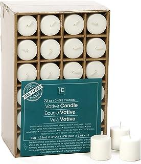 مجموعه Hosley از 72 شمع غیر سفید رنگ غیرمعمول سوخته تا 10 ساعت مخلوط موم ایده آل برای عروسی های تولد جشن های آروماتراپی مهمانی شمع باغ O2