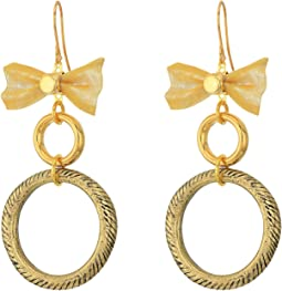 The Mesh Bow Hoop Earrings