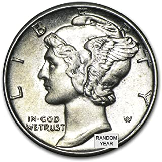1916-1945 90% Silver Mercury Dimes BU (Mixed Dates and Mint Marks) .10c Dime Brilliant Uncirculated