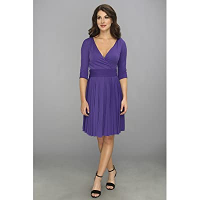 BCBGMAXAZRIA Cruz The Mid Sleeve Dress (Persian Blue) Women