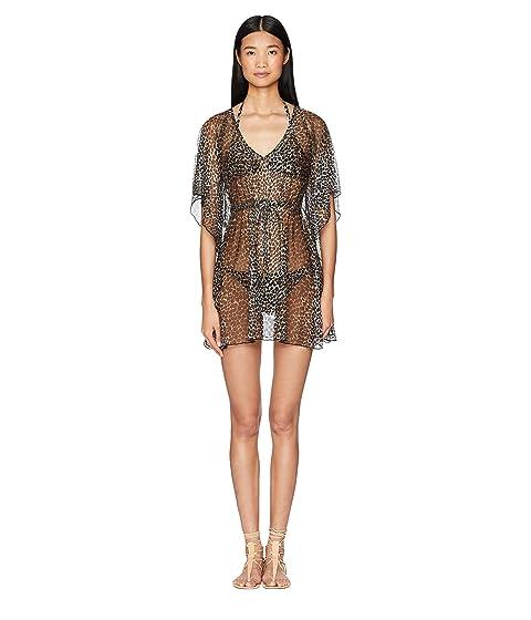 Letarte Leopard Print Mesh Dress Cover-Up